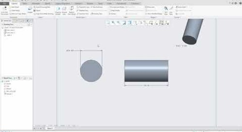 Creo Parametric Tip:  How to Convert Diameter Dimensions to Linear Dimensions