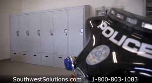 Ventilated Police Lockers Storing Officer Uniforms Gear Duty Bag Storage Law Enforcement