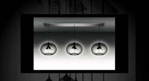 Modern Chandeliers with Gray Handmade Glass Pendants by Niche Modern