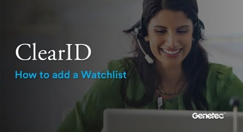 How to add a Watchlist in ClearID