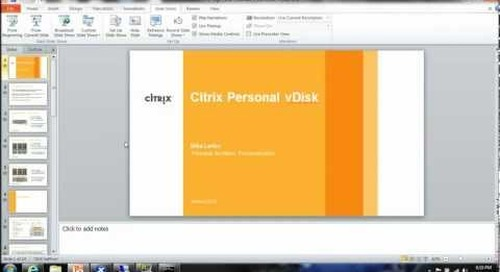 Personal vDisk XenDesktop 5.6 Demo.mp4