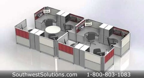 Foldaway Portable Workstations Flexible Furniture for Facilities Management