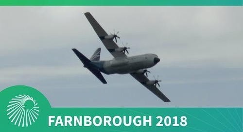 Farnborough 2018: Lockheed Martin LM-100J Hercules flying display debut