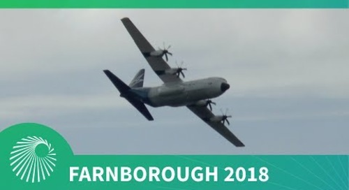 Farnborough 2018: Lockheed Martin LM-100J Hercules flying display debut