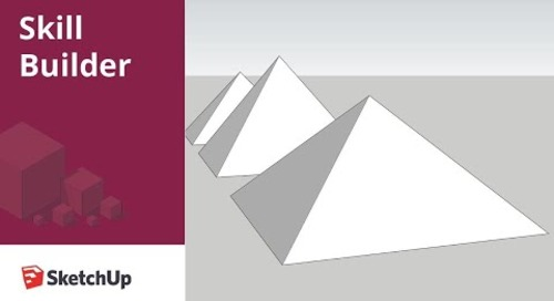 [Skill Builder] How to model a pyramid in SketchUp