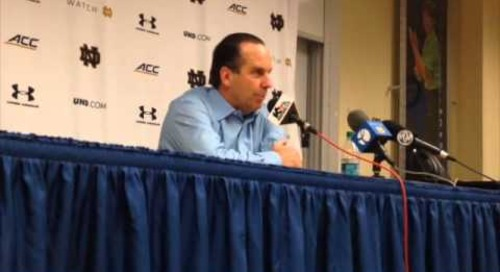 Mike Brey Post-Michigan State