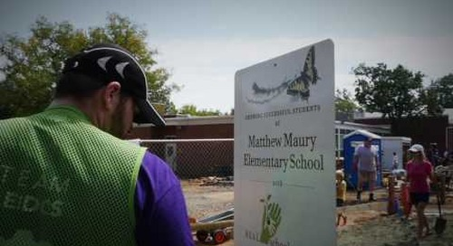 Leidos - REAL School Garden Big Dig at Matthew Maury Elementary School