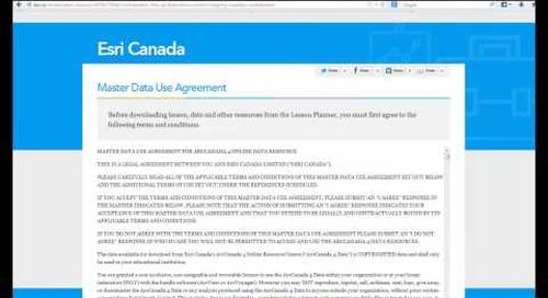 Esri Canada's Lesson Planner