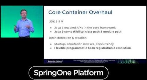 SpringOne Platform 2016 Keynote - Spring Framework 5.0