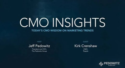 CMO Insights: Kirk Crenshaw, CMO, Traackr