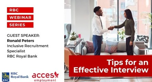 RBC Royal Bank Webinar | Tips for an Effective Interview