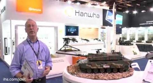 IDEX 2015 Christopher Foss talks about the Hyundai Rotem K2 Main Battle Tank