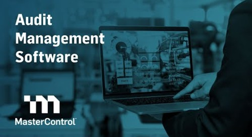 Demo: MasterControl Audit Management Software