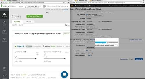 [Tutorial] Peering your MongoDB Atlas Cluster to AWS
