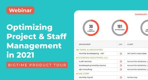 Optimizing Project & Staff Management in 2021 | Product Tour