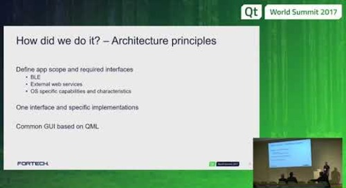 QtWS17 - First experience with Qt for Mobile: our journey, Bogdan Ogrean, FORTecH