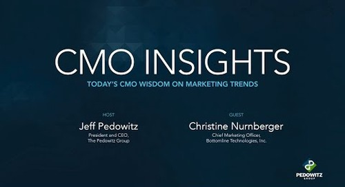 CMO Insights: Christine Nurnberger, CMO at Bottomline Technologies