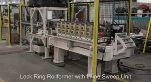 Samco Machinery Lock Ring Rollformer with Inline Sweep Unit
