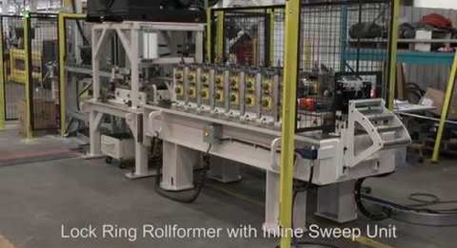 Samco Machinery Lock Ring Rollforming Machine with Inline Sweep Unit