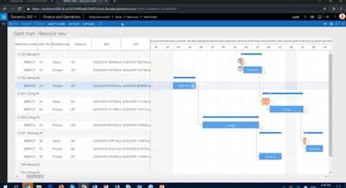 Q&A Series: Can a Gantt chart be used for Operational Planning in D365 FO