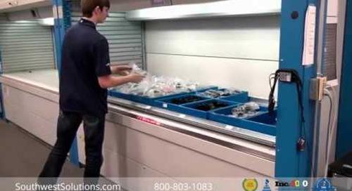 Vertical Parts Storage Transaction Information Center & Light Pointer