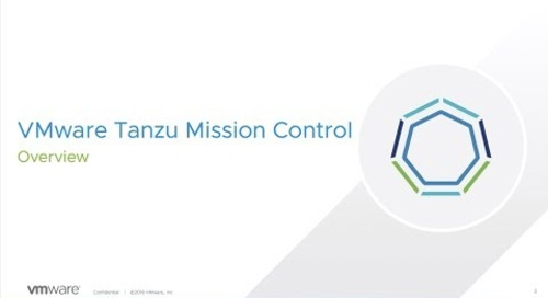 Overview of Tanzu Mission Control