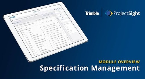 ProjectSight - Specification Management Module Overview