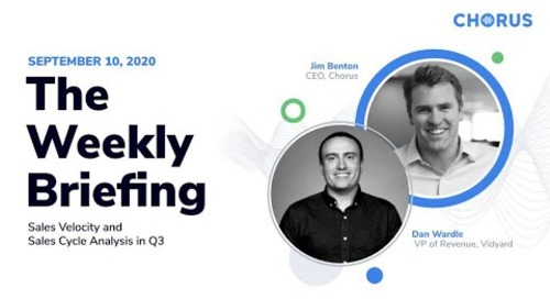 The Weekly Briefing - Changing Sales Velocity and Sales Cycle Analysis in Q3
