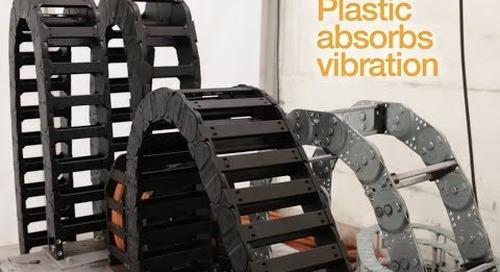 Plastic cable carrier vs metal cable carrier - vibration test