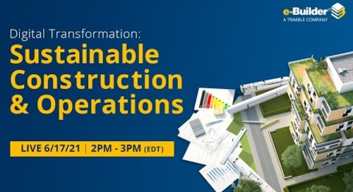 Digital Transformation: Sustainable Construction & Operations