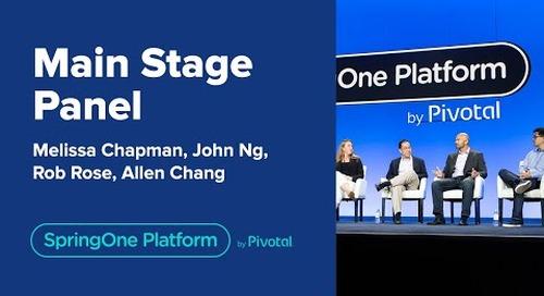 Main Stage Panel at SpringOne Platform 2019