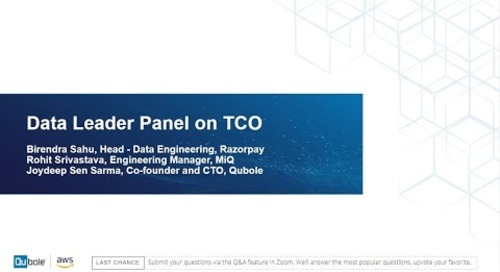 'Data Leaders Panel on TCO' - How to be a TCO innovator on AWS?