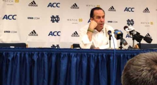 Mike Brey Press Conference (UNC postgame)