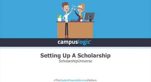 ScholarshipUniverse | Setting Up a Scholarship