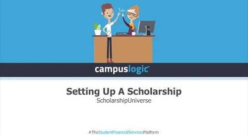 ScholarshipUniverse | Setting Up a Scholarship