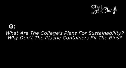 What Are The College's Plans For Sustainability? - Chat With Cheryl