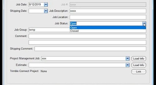 """Tekla EPM 2020i New Feature: Easier access for current projects with """"Closed"""" job status"""