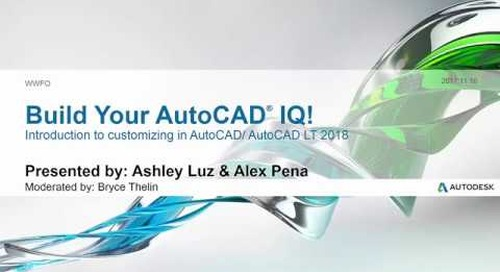 Webinar: Introduction to Customizing in AutoCAD | AutoCAD LT 2018
