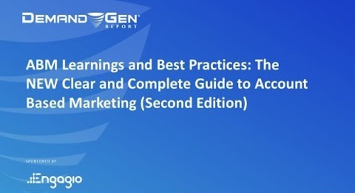 [Best Practices Webinar] The NEW Clear and Complete Guide to ABM (2nd Edition) | Replay