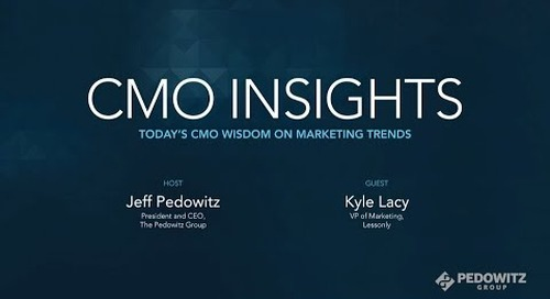 CMO Insights: Kyle Lacy, VP of Marketing, Lessonly