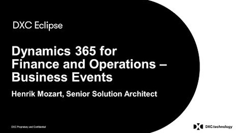Video - Product Demo: Business Events for Dynamics 365 for Finance and Operations