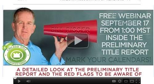 Preliminary Title Report - 9.17.2014