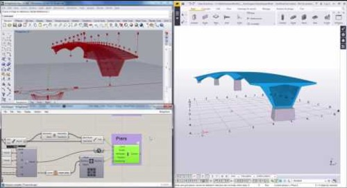 Grasshopper Tekla Live Link Beta Bridge Demo Pt2