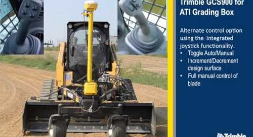 3D Grade Control Solution for Level Best PD Series Grading Boxes on Skid-steer Loaders