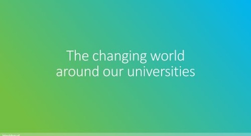 The changing world around our universities