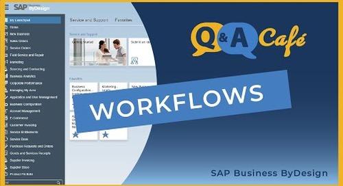 Q&A Café: Workflow in SAP Business ByDesign