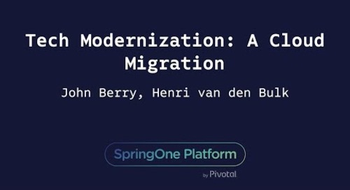 Tech Modernization: A Cloud Migration - Henri van den Bulk & John Berry, Charles Schwab