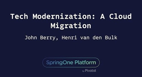 Tech Modernization: A Cloud Migration - Henri van den Bulk & John Berry, Schwab