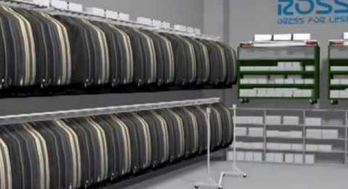 Maximizing Storage Space Retail Backroom Clothing Racks Mobile Stock Carts