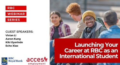 Launching Your Career at RBC as an International Student